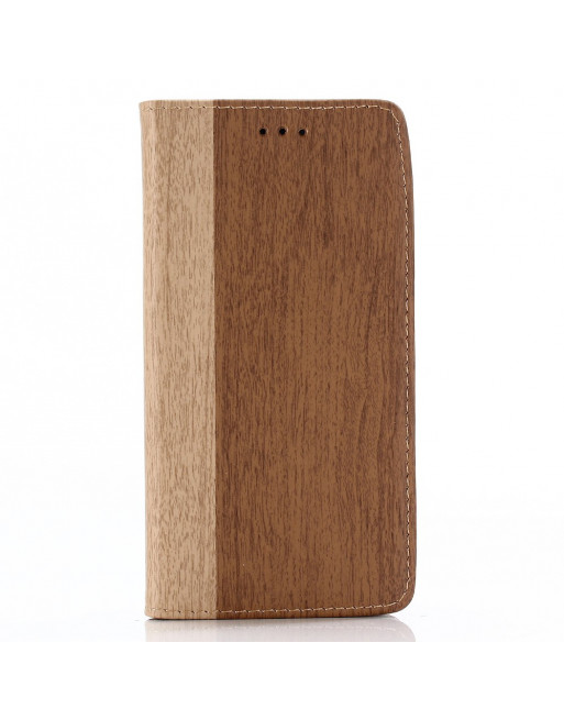 Wood Book Case - Iphone XS Max Hoesje - Bruin