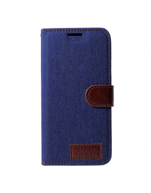 Leren Jeans Book Case - Iphone XR - Donkerblauw - Dibase