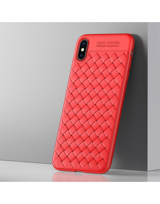 TPU Softcase - Iphone XS Max Hoesje - Rood - Usams