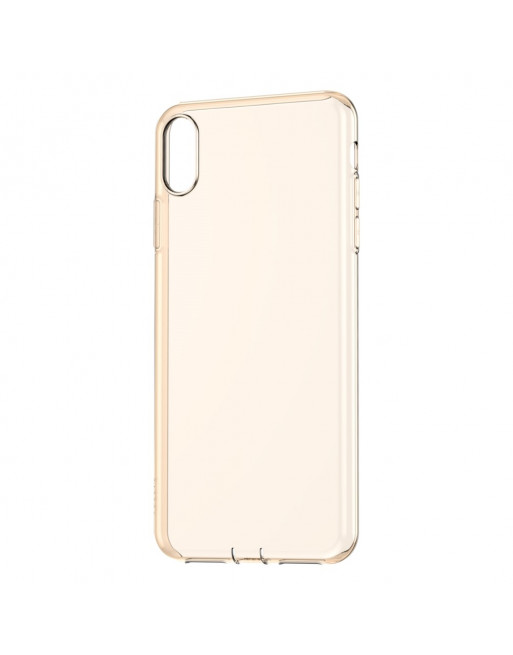 TPU Softcase - Iphone XS Max Hoesje - Transparant Goud