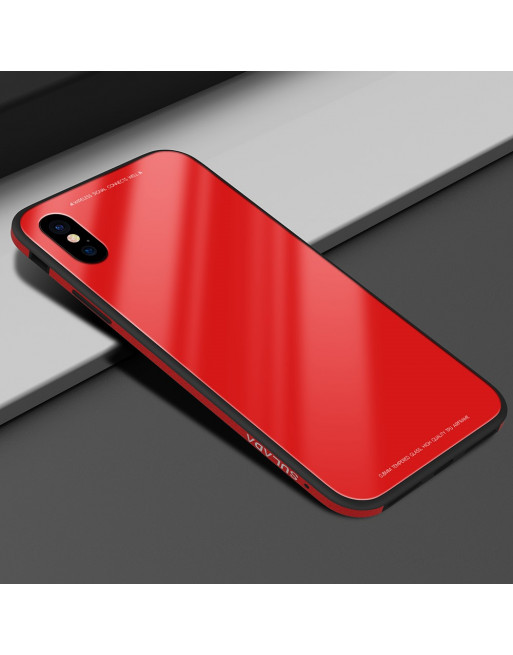 Tempered Glass Case - Iphone X / Xs Hoesje - Rood