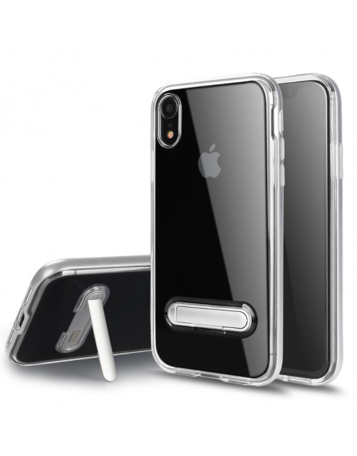 Hybrid Softcase  - Iphone XR Hoesje - Zilver