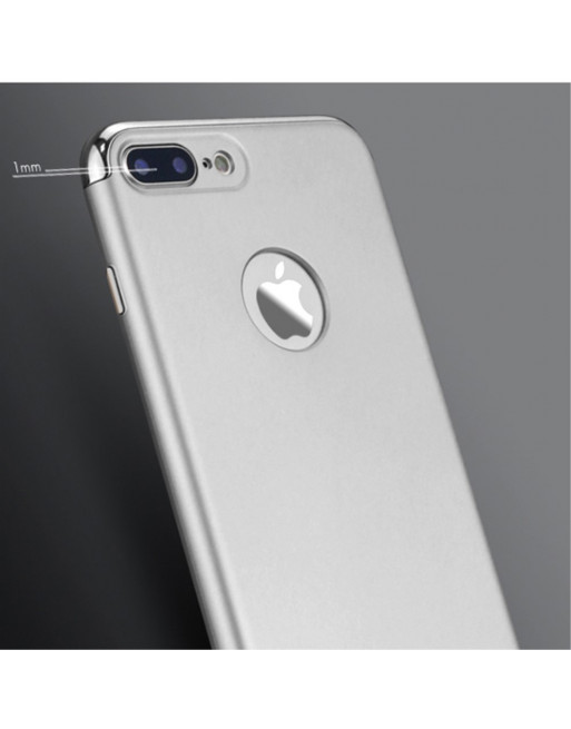 3-in-1 Electroplated Hardcase - iPhone 7 plus/iPhone 8 plus- Zilver