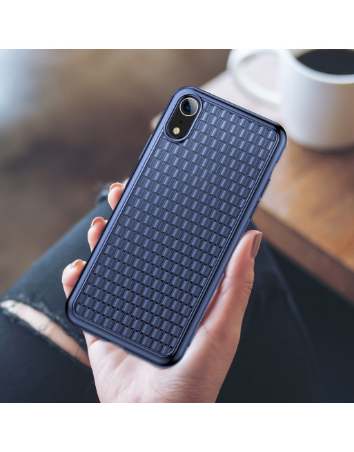 Softcase Iphone Hoesje - Iphone XR - Blauw