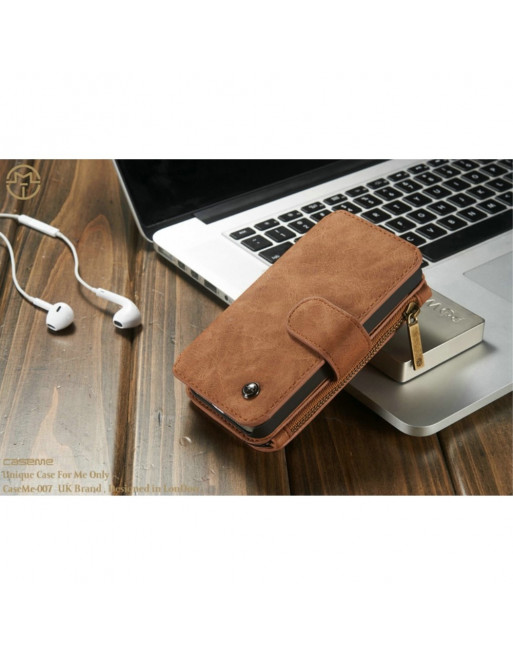 2 in 1 Leren Wallet + Case - iPhone 5(s)/SE - Bruin