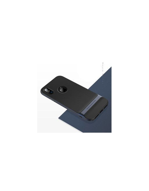 TPU/Rubber Cover iPhone 5(s)/SE - zwart + Navy blue