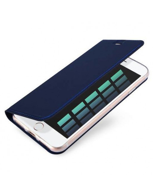 Book case iPhone 6(s) plus - Blauw - Skin Series