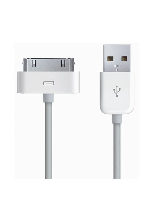 Apple 30 pin to USB kabel- 1m - wit