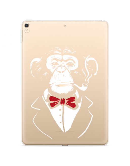 Apple iPad 10.2 2019 Hoes Chimp roken - transparant