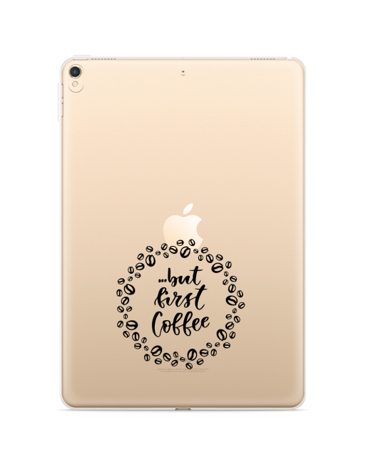 Apple iPad 10.2 2019 Hoes But first coffee - transparant