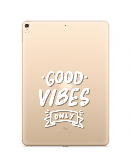 Apple iPad 10.2 2019 Hoes Good Vibes wit - transparant