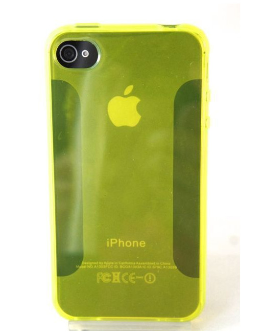 Zacht siliconen backcase iphone 4/4s geel