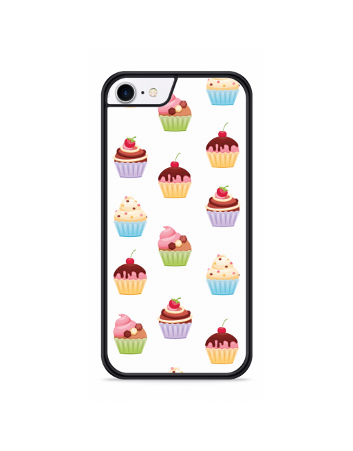 iPhone SE 2020 Hardcase hoesje Cupcakes - transparant