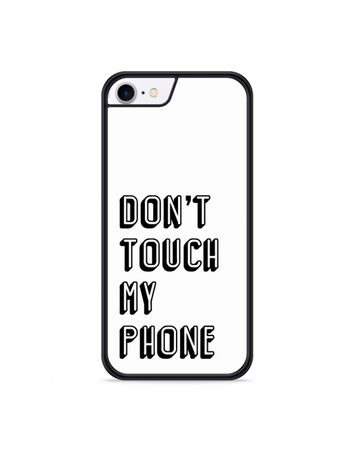 iPhone SE 2020 Hardcase hoesje Don't Touch My Phone - transparant
