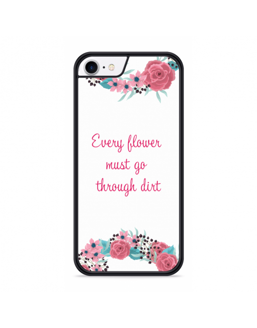iPhone SE 2020 Hardcase hoesje Every Flower - transparant