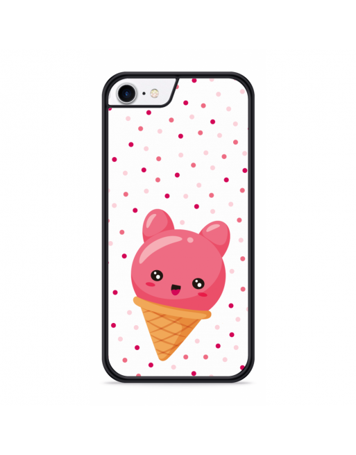 iPhone SE 2020 Hardcase hoesje Ice cone - transparant