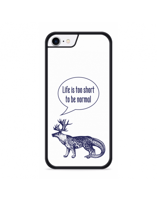 iPhone SE 2020 Hardcase hoesje Life is too Short - transparant