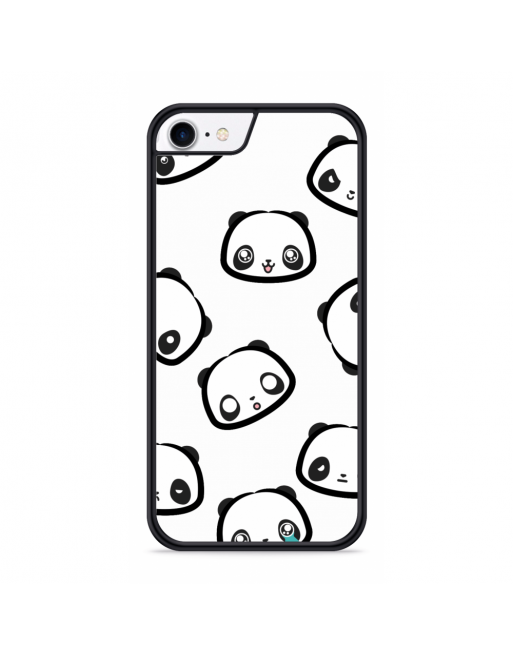 iPhone SE 2020 Hardcase hoesje Panda Emoties - transparant
