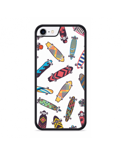 iPhone SE 2020 Hardcase hoesje Skateboards - transparant