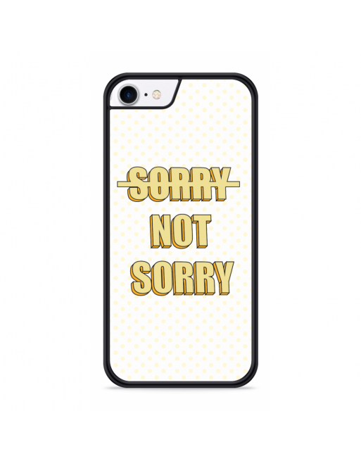 iPhone SE 2020 Hardcase hoesje Sorry not Sorry - transparant