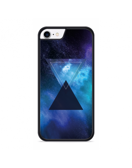 iPhone SE 2020 Hardcase hoesje ruimte - blauw