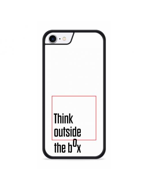 iPhone SE 2020 Hardcase hoesje Think outside the Box - transparant