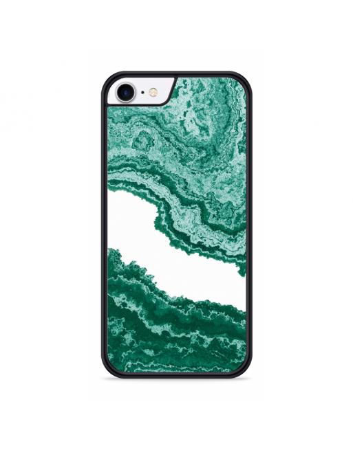 iPhone SE 2020 Hardcase hoesje Turquoise Marmer kunst