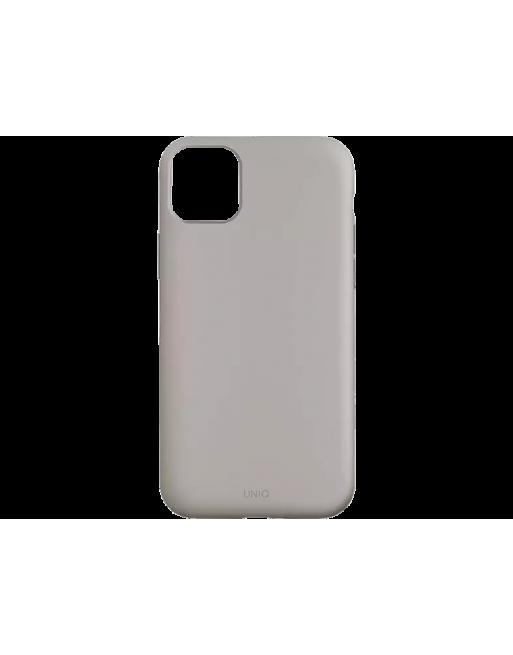 Premium silicone case iPhone 11 - Grijs/Beige