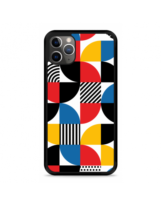 iPhone 11 Pro Hardcase hoesje Abstract Patroon - transparant