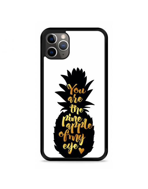 iPhone 11 Pro Hardcase hoesje Grote ananas - transparant