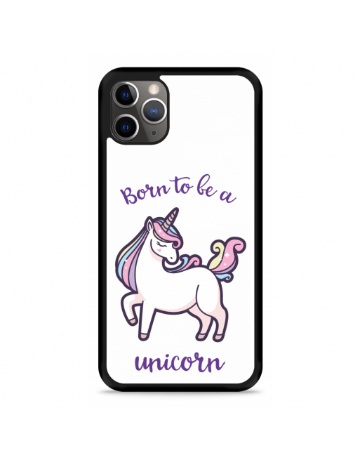 iPhone 11 Pro Hardcase hoesje Born to be a Unicorn - transparant