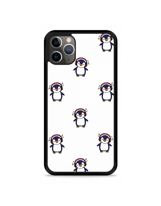 iPhone 11 Pro Hardcase hoesje Chillin like a penguin - transparant