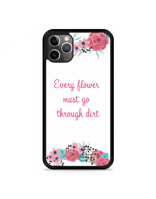 iPhone 11 Pro Hardcase hoesje Every Flower - transparant