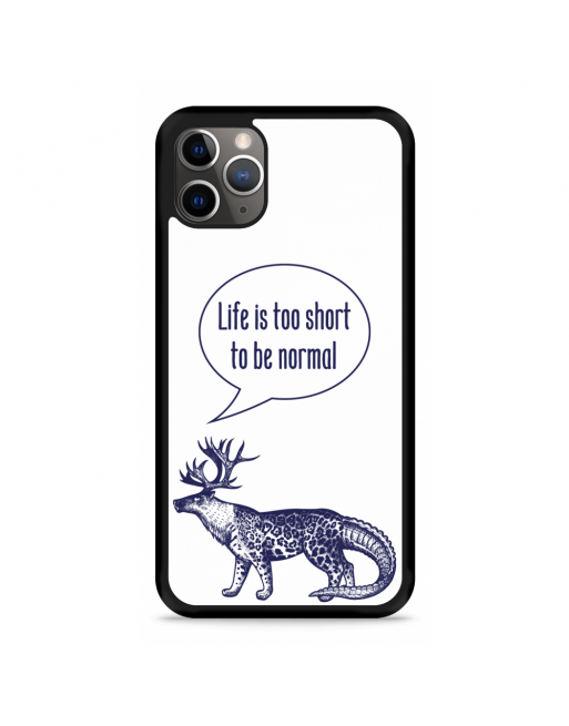 iPhone 11 Pro Hardcase hoesje Life is too Short - transparant
