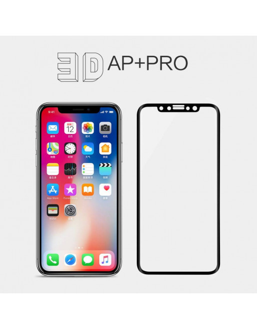 Full Screen - privacy glass - iPhone X - 0.3 mm - Transparant