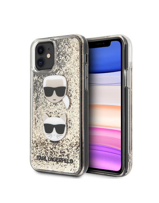 Karl Lagerfeld hoesje iPhone 11 - Glitters - Goud
