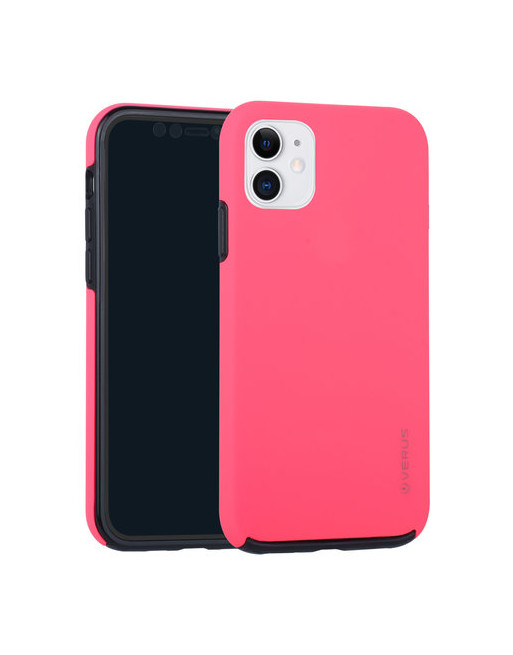 Backcover iPhone 11 + Front PC glass - Fluo roze