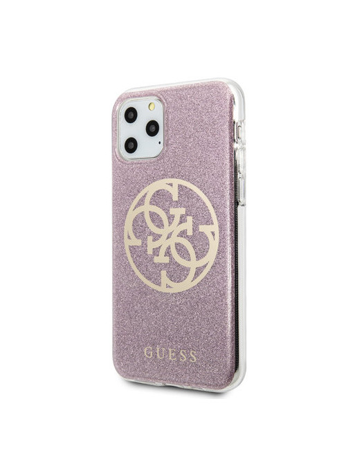 Guess hardcase iPhone 11 Pro Max - Glitters - Roze
