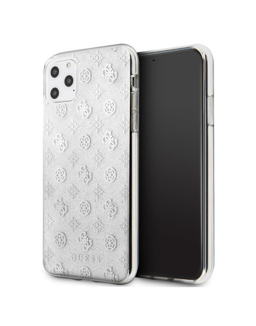 Guess hardcase iPhone 11 Pro Max - Glitters - Zilver