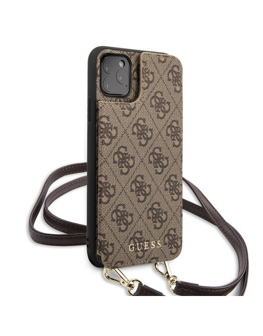 Guess crossbody hoesje iPhone 11 Pro Max - Backcase - Bruin