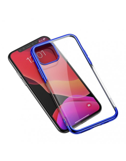 Beschermende softcase iPhone 11 Pro - Shining - Transparant/blauw