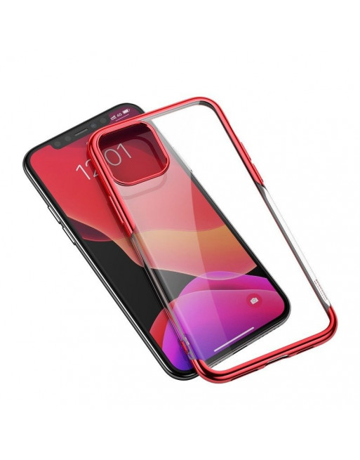 Beschermende softcase iPhone 11 Pro - Shining - Transparant/rood