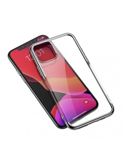 Beschermende softcase iPhone 11 Pro - Shining - Transparant/zilver