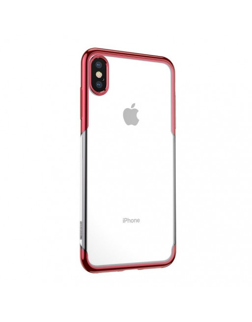 Beschermende softcase iPhone XS - Shining - Transparant/rood