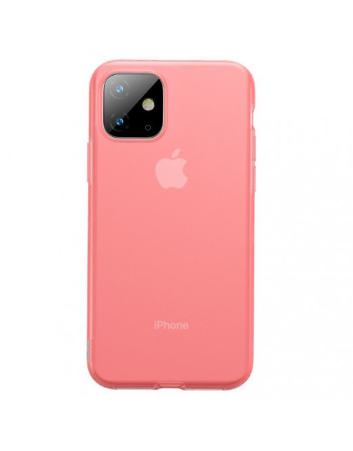 iPhone 11 softcase - Jelly - Transparant/Roze