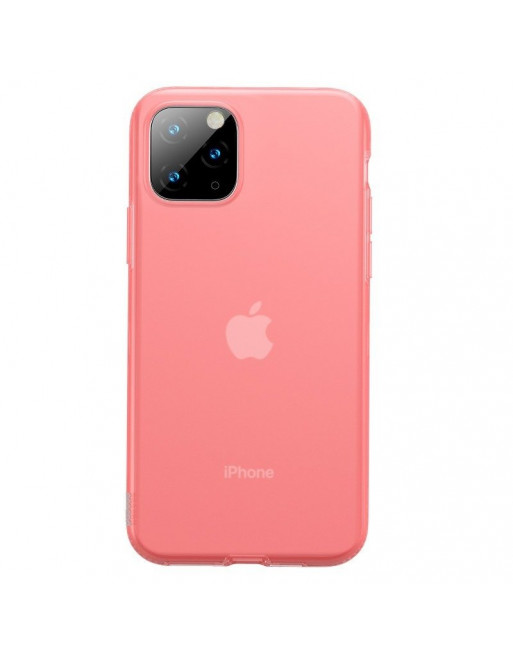 iPhone 11 Pro Max softcase - Jelly - Transparant/Roze
