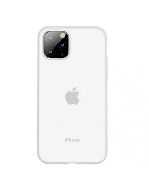 iPhone 11 Pro softcase - Jelly - Transparant/Wit