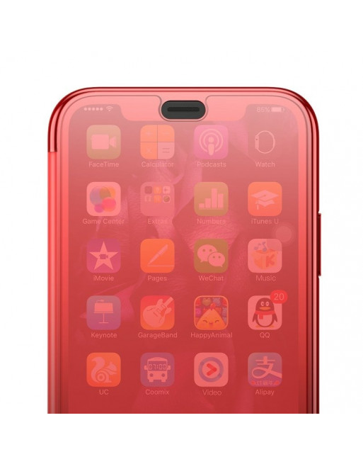 iPhone XR bookcase - Transparante klep - Rood
