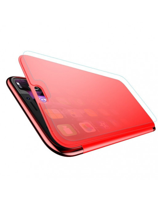 iPhone Xs Max bookcase - Transparante klep - Rood