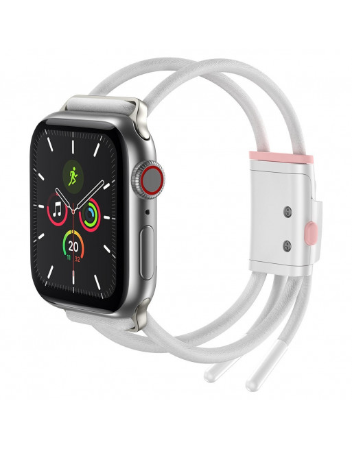 Sportieve, lichtgewicht armband aanspanmechanisme Apple Watch 3/4/5 - 38/40 mm - wit